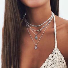Attraktiv Legering Smycken Sets Halsband
