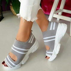 Women's Cloth Mesh Wedge Heel Sandals Flats Wedges Peep Toe Heels With Others shoes