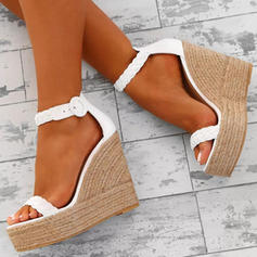 PU Wedge Heel Sandals Platform Wedges Peep Toe Heels With Others shoes