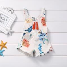 baby Tecknad Print Bomull Jumpsuit