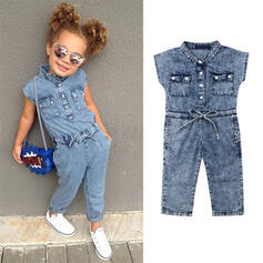 baby flicka Jeans Bomull Jumpsuit