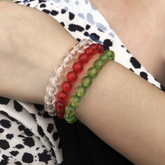 Delikat Flätade Rep Pärlor Armband 3 st