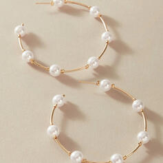 Stylish Alloy Imitation Pearls With Imitation Pearl Women's Earrings 2 PCS