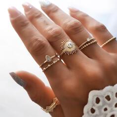 Charmen Delikat Legering med Sol Ringar 7 st