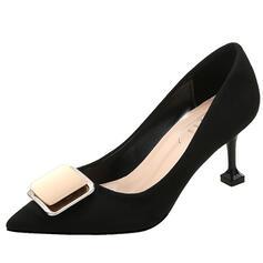 Kvinnor Mocka Stilettklack Pumps Spetsad tå med Bowknot skor
