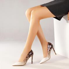 Kvinnor PU Stilettklack Pumps Spetsad tå med Skarvfärg Färgblock skor