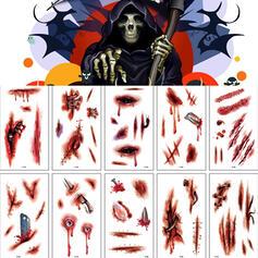 Lovely Horrifying Cartoon Halloween Blood Latex Sticker