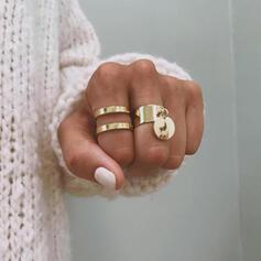 Legering Smycken Sets Ringar (Set av 2)