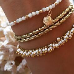 Charmen Hetaste Legering Fauxen Pärla med Oäkta Pearl Smycken Sets Armband (Sats om 3)