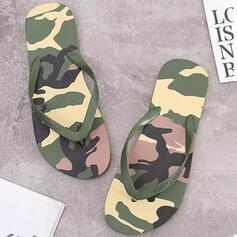 Women's PVC Flat Heel Sandals Flip-Flops Slippers With Colorblock shoes