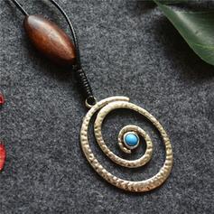 Bohemisk geometrisk Delikat kedja Legering med Pärlor Halsband 1 st