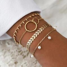 Hetaste Legering med Oäkta Pearl Smycken Sets Armband Strand smycken (4 st)