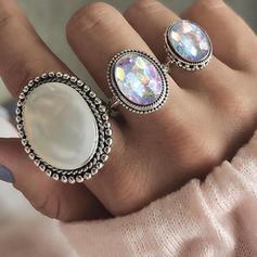 Exotic Alloy Women's Rings (Set of 3)