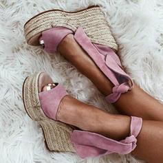 Kvinnor Tyg Kilklack Sandaler Kilar med Andra skor