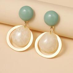 Simple Alloy Resin Women's Earrings 2 PCS