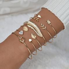 Enkel Attraktiv Legering med Fjäder Smycken Sets Armband (Sats om 6)