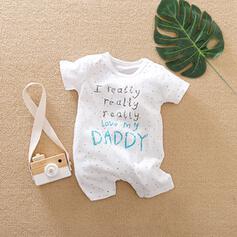 baby Brev Print Bomull Baddräkter