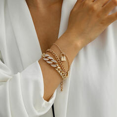 Sexy Charming Artistic With Rhinestone Gold Plated Women's Ladies' Bracelets 1 PC