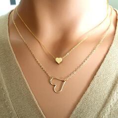 Hjärta Romantiskt Legering med Hjärta Smycken Sets Halsband 2 st