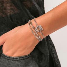 tappning utformar Bohemisk Skiktad Legering med Akryl Armband 3 st