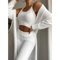 Solid Elegant Plain Suits