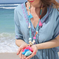 Hetaste Snygga Legering Pärlor med Tofsar Halsband Strand smycken