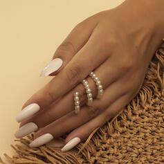Charmen Elegant Pärla med Oäkta Pearl Ringar