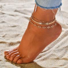 Unik Legering Strand smycken Fotlänk (Sats om 3)