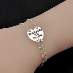 Charming Pretty Artistic Romantic Alloy With Heart Ladies' Bracelets