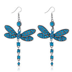 Charming Pretty Artistic Romantic Alloy With Rhinestone Décor Women's Earrings