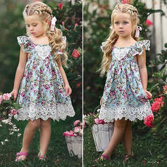 Toddler Girl Floral Lace Print Cotton Dress
