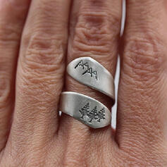 Klassisk stil Enkel Legering Ringar