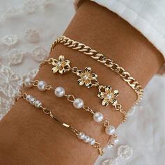Stylish Delicate Romantic Alloy Women's Ladies' Girl's Bracelets 4 PCS