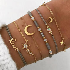 Fashionable Cool Alloy Bracelets (Set of 6 pairs)