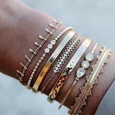 Legering Smycken Sets Armband (Set av 6 par)