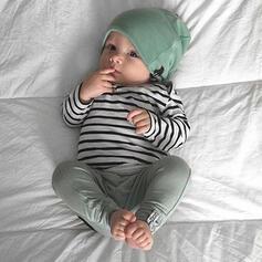3-pieces Baby Striped Cotton Set