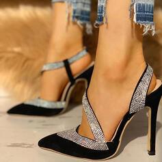 Kvinnor PU Stilettklack Pumps Spetsad tå skor