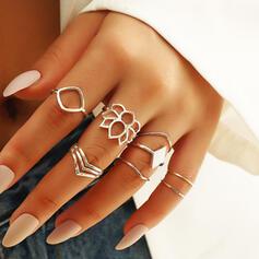Modern Skiktad Legering Ringar 8 st