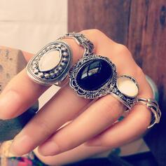 Hetaste Snygga Legering Smycken Sets Ringar (Sada 5 párov)