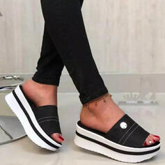 Women's PU Wedge Heel Sandals Platform Wedges Peep Toe Slippers Heels With Hollow-out Flower shoes