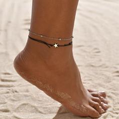 Enkel Legering Läder Rp med Stjärna Strand smycken Fotlänk (Set av 2)