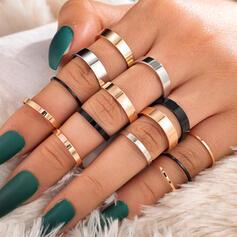 Snygg Enkel Legering Smycken Sets Ringar (Sats om 14)