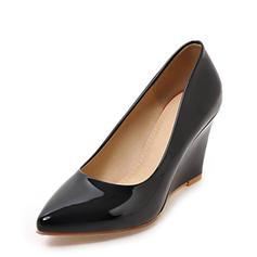 Kvinnor Lackskinn Kilklack Stängt Toe Kilar med Andra skor