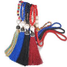 Hetaste Snygga Pärlor med Tofsar Halsband Strand smycken