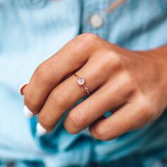 Enkel Legering Kristall Ringar