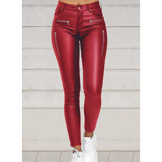 Solid Shirred Plus Size Sexy Vintage Pants Leggings