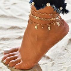Hetaste Legering med Blad Strand smycken Fotlänk (Sats om 3)