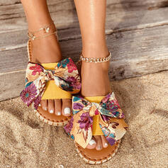 Women's PU Flat Heel Sandals Flats With Floral Print shoes