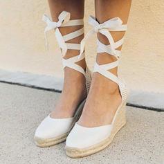 Tyg Kilklack Kilar med Bandage skor