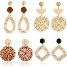 Unik Utsökt Snygg Legering Textil örhängen Strand smycken (Set av 4 par)